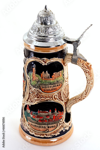 canvas print picture German Beer Stein
