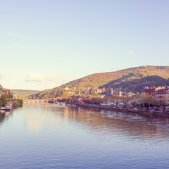 view to old town of Heidelberg,