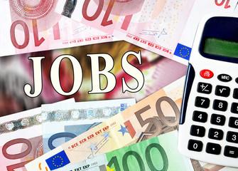 Jobs word with money