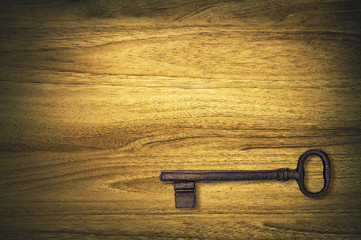 old key on wood