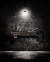 key under light