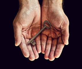 key in hands