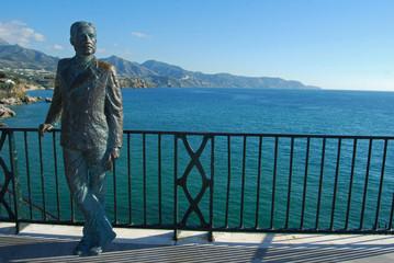 Estatua de Alfonso XII, Balcón de Europa, Nerja, Málaga