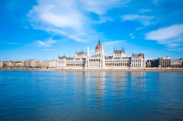 building of Parliament in Budapest, Hungary