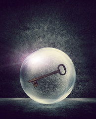 key inside sphere