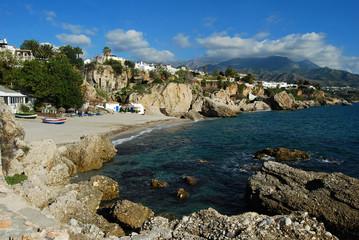 Playa de Calahonda, Nerja, costa, Málaga
