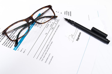 paper Document for business with pen