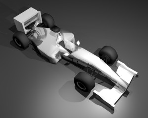 Racing render vehicle