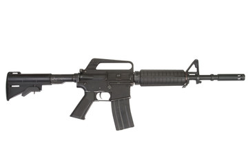 CAR-15 carbine isolated on a white background