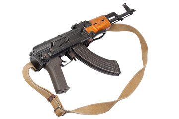 Kalashnikov AK47 isolated on white