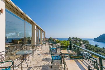 Hotel balcony  in Paleokastritsa