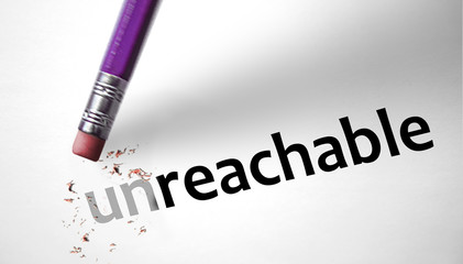 Eraser changing the word unreachable for reachable