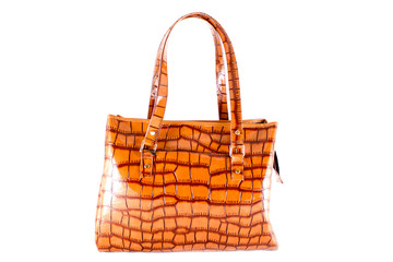 Reptile style leather purse
