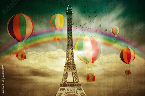 Eifel Coloured Wallpaper - 66681297