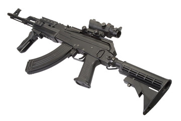 Modern  Kalashnikov AK47 with accessories