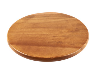 Round wooden tray salver