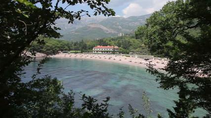 Milocher beach in Montenegro