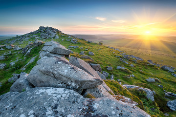 Sunset on Bodmin Moor