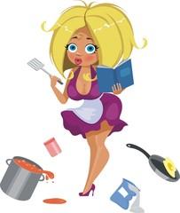 Растерянная домохозяйка