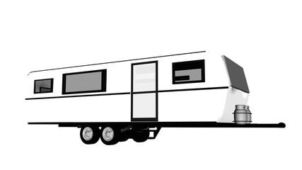 Caravan - 3D render