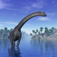 Brachiosaurus dinosaur - 3D render