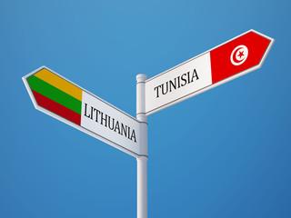 Tunisia Lithuania  Sign Flags Concept