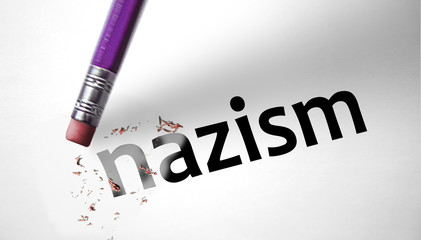 Eraser deleting the word Nazism