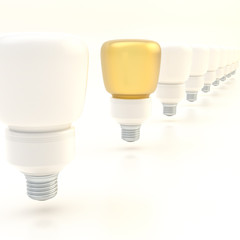 Line of light bulbs