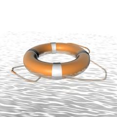 Reddingsboei op zee