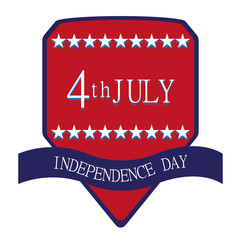 independence day vector badge