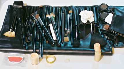 a set of tools for make-up