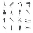 Hairdresser Icons Set - 66686640