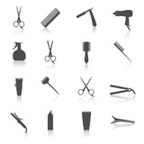 Fototapety Hairdresser Icons Set