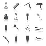 Hairdresser Icons Set