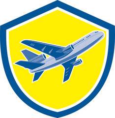 Commercial Airplane Jet Plane Airline Retro