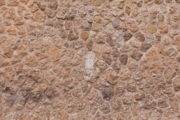 Historic Old  Stone Dirty Wall