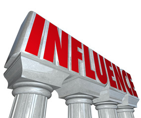 Influence Word Stone Marble Pillars Columns Power Reputation Dom