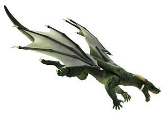 green dragon attack side view