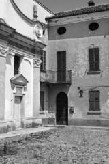 Old church detail. BW image