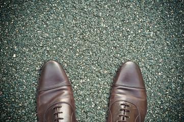 concept pieds sur la route
