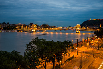 Budapest Chain Bridge, night view