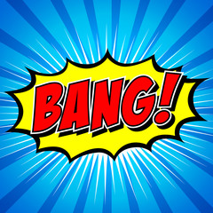 Bang! Comic Speech Bubble, Cartoon.