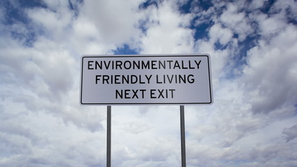 Environmentally Friendly Living Sign Timelapse