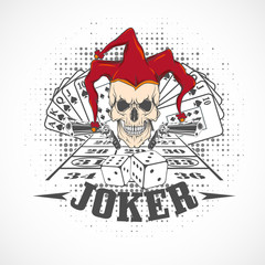 Joker card. Emblem casino.