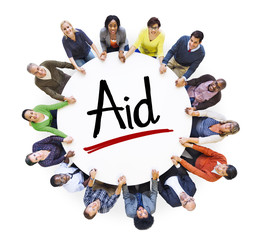 People Social Networking and Aid Concept