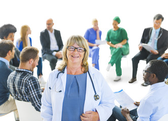 Multi-Ethnic Group of People of Healthcare Workers