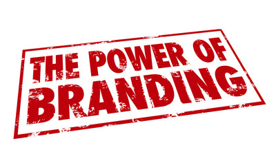 Power of Branding Stamp Red Ink Loyalty Recognition Identity