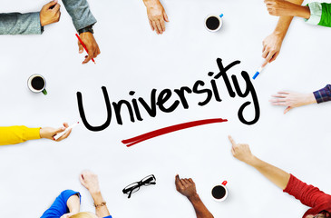 Multiethnic People Discussing About University