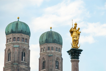 Marian Column, Marienplatz, Munich, Germany