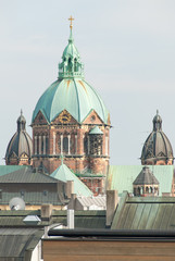 Saint Lukas Church and Munich Rooftops II